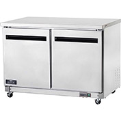 "Arctic Air AUC48F Undercounter Freezer, 2 Door, White, 12 Cu. Ft., 48-1/4""W x 30""D x 35-1/2""H"