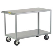 Little Giant® HD Welded Shelf Truck 2G-3048-6PHBK, 2 Flush Shelves, 30 x 48