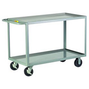 Little Giant® HD Welded Shelf Truck 2GL-2436-6PHBK, 2 Lip Shelves, 24 x 36
