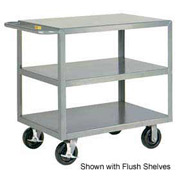 Little Giant® HD Welded Shelf Truck 3GL-3060-6PHBK, 3 Lip Shelves, 30 x 60