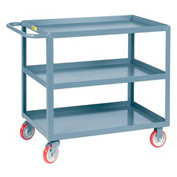 Little Giant® All Welded Service Cart 3LGL-3048-BRK, 3 Lip Shelves, 30 x 48
