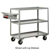 Little Giant® Multi-Shelf Truck 3M-3048-6PH-WSP 3 Flush Shelves 30x48 Writing Shelf Pocket