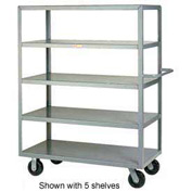 Little Giant® Multi-Shelf Truck 3M-3048-6PH, 3 Flush Shelves, 30 x 48