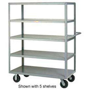 Little Giant® Multi-Shelf Truck 3M-3060-6PH, 3 Flush Shelves, 30 x 60
