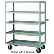 Little Giant® Multi-Shelf Truck 3ML-2436-6PH, 3 Lip Shelves, 24 x 36