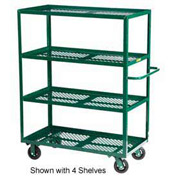 Little Giant® Multi-Shelf Nursery Cart 3MLP-2448-6MR-G, 3 Shelf, 24 x 48