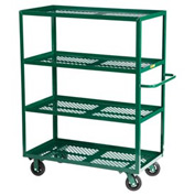 Little Giant® Multi-Shelf Nursery Cart 4MLP-3060-6MR-G, 4 Shelf, 30 x 60