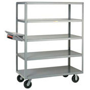 Little Giant® Multi-Shelf Truck 5M-2448-6PH-WSP 5 Flush Shelves 24x48 Writing Shelf Pocket