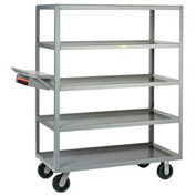 Little Giant® Multi-Shelf Truck 5ML-2448-6PH-WSP, 5 Lip Shelves 24x48 Writing Shelf Pocket