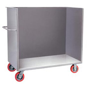 Little Giant® 3-Sided Bulk Truck B1-3060-6PY, Solid Sides, 30 x 60, Polyurethane Wheels