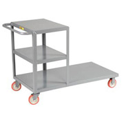 Little Giant® Combo Cart Combination Platform & Shelf Truck CC-2448-5PYBK, 24 x 48