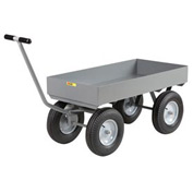 Little Giant® Deep Lip Wagon Truck CH-2448-X6-16P - 24 x 48 - Pneumatic Wheels - 3000 Lb. Cap.