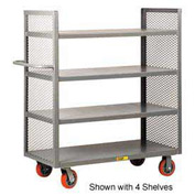 Little Giant® 2-Sided Shelf Truck DET2-2460-6PY, 2 Shelves, 24 x 60
