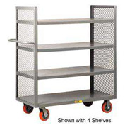 Little Giant® 2-Sided Shelf Truck DET2-3060-6PY, 2 Shelves, 30 x 60