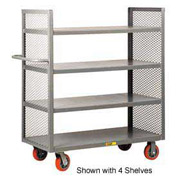Little Giant® 2-Sided Shelf Truck DET3-3060-6PY, 3 Shelves, 30 x 60
