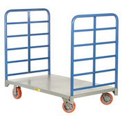 Little Giant® Double End Rack Platform Truck DR-3048-6PY - 30 x 48