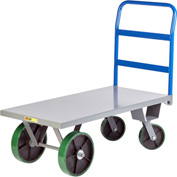 Little Giant® Heavy Duty Platform Truck NBH-3672-PU - 36 x 72 - Poly Wheels - 4000 Lb. Cap.
