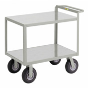 Little Giant® Instrument Cart w/Hand Guard, Flush Shelves, 24 x 48