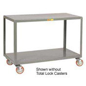 Little Giant® Mobile Table IP-1832-2TL, 2 Shelf, 18 x 32, Locking Casters