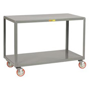 Little Giant® Mobile Table IP-2448-2BRK, 2 Shelf, 24 x 48, Wheel Brakes