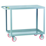 Little Giant® All Welded Service Cart LG-1824-BRK, 2 Flush Shelves, 18 x 24