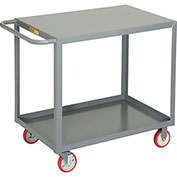Little Giant® All Welded Service Cart LG-2436-BRK, 2 Flush Shelves, 24 x 36