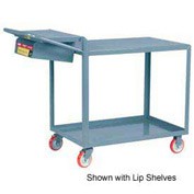 Little Giant® Order Picking Truck LG-2436-WS-P-BK with Storage Pocket, Flush Top, 24 x 36