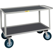 Little Giant® Flush Handle Instrument Cart Lip Non-Slip Vinyl Shelves 24x36