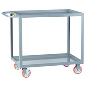 Little Giant® All Welded Service Cart LGL-2448-BRK, 2 Lip Shelves, 24 x 48