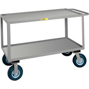 Little Giant® Flush Handle Instrument Cart, Lip Shelves, 30 x 48
