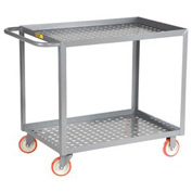 Little Giant® Perforated Deck Service Cart LGLP-2448-BK, 24 x 48