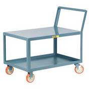 Little Giant® Low Deck Shelf Truck LK-2436-5PYBK, Flush Top, Sloped Handle, 24 x 36