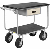 Little Giant® Instrument Cart w/Drawer, Pneumatic Wheels