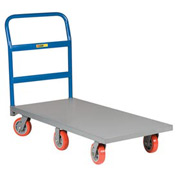 Little Giant® 6-Wheel Platform Truck NB6W-3072-6PY - 30 x 72 - Polyurethane Wheels - 3600 Lb.