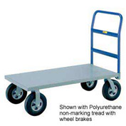 Little Giant® H/D Platform Truck NBB-3048-8MR-FL - 30 x 48 - MORT Wheels with Floor Lock