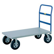 Little Giant® Heavy Duty Platform Truck NBB-3048-8PYBK - 30 x 48 - Poly Wheels -3600 Lb. Cap.