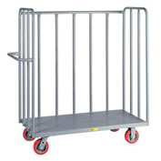 Little Giant® 3-Sided Bulk Truck OT2436-6PY, Tubular Steel Sides, 24 x 36, Poly Whls