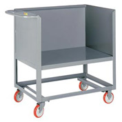 Little Giant® Raised Platform Box Truck RP3S-1832-5PY, 3 Solid Sides 18x32 1200 Lb. Cap.