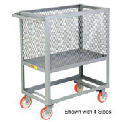 Little Giant® Raised Platform Box Truck RP3X-2436-6PY, 3 Expanded Metal Sides 24x36 1200
