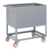 Little Giant® Raised Platform Box Truck RP4S-1832-5PY, 4 Solid Sides 18x32 1200 Capacity