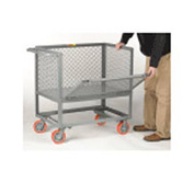 Little Giant® Raised Platform Truck RPDX-2436-6PY Drop-Gate Expanded Metal Sides, 24 x 36