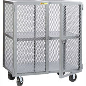 Little Giant® Mobile Storage Locker SC-2460-6PH, 1 Center Shelf, 24x60, Phenolic Wheels
