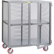Little Giant® Mobile Storage Locker SC-2460-6PPY 1 Center Shelf 24x60 Polyurethane Wheels