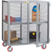 Little Giant® Mobile Storage Locker SC-3060-6PPY 1 Center Shelf 30x60 Polyurethane Wheels
