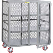 Little Giant® Mobile Storage Locker SC2-3048-6PPY, 2 Center Shelves, 30 x 48, Poly Wheels
