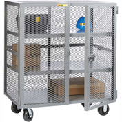 Little Giant® Mobile Storage Locker SC2-3672-6PH 2 Center Shelves 36x72 Phenolic Wheels