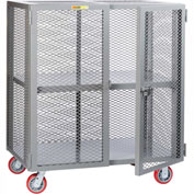 Little Giant® Mobile Storage Locker SCA-3060-6PPY, Adjustable Shelf, 30 x 60, Poly Whls