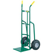 "Little Giant® 12"" Reinforced Nose Hand Truck T-220-10P - Dual Handle - 10 x 3.50 Pneumatic Tire"