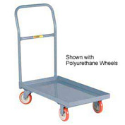 Little Giant® Steel Deck Platform Truck T-530-LU - Lip Edge - 24 x 60 - Mold-on Rubber Wheels