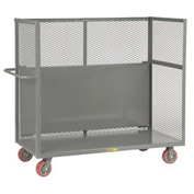 Little Giant® Drop-Shelf Truck T1-2448-6PY-DS, Mesh Sides, 24 x 48